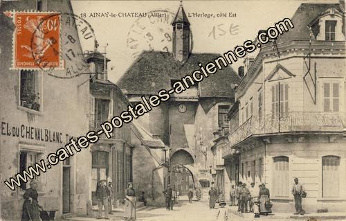 Carte postales anciennes Ainay le chateau