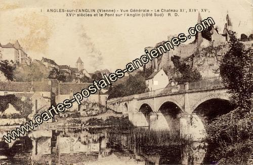 Carte postales anciennes Angles sur l anglin