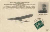 Carte postale Aviateur-Garros - Aviation