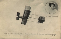 Carte postale Aviateur-La-Baronne- - Aviation