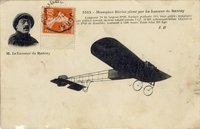 Carte postale Aviateur-Le-Lasseur- - Aviation