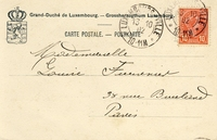 Carte postale Arriere - Luxembourg