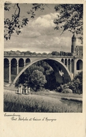 Carte postale Pont-Adolphe - Luxembourg
