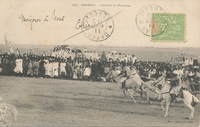 Carte postale Course - Sénégal