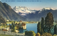 Carte postale Chateau-de-Chillon - Suisse